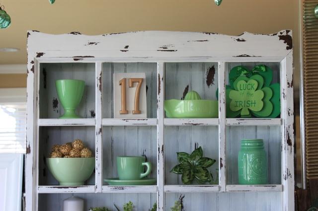 Distressed shelf and Jadeite