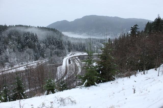Snowy freeway